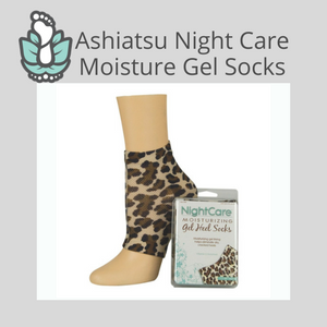 Ashiatsu Night Care Moisturizing Gel Socks-Leopard Pattern